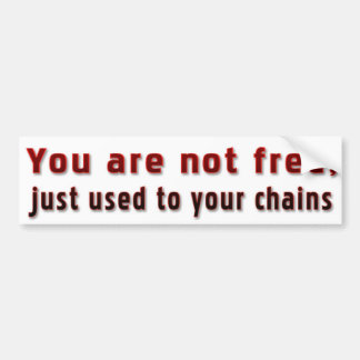Are you really free? car bumper sticker