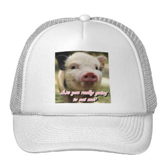 are you really going to eat me? vegan hat