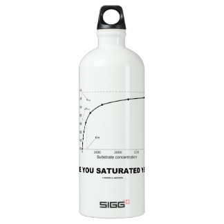 Are You Saturated Yet? (Chemistry Humor) Aluminum Water Bottle