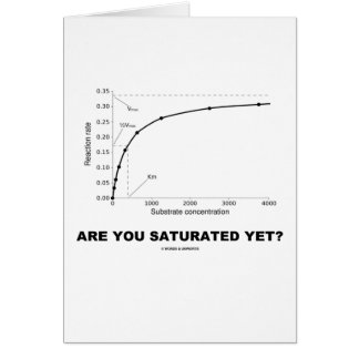 Are You Saturated Yet? (Chemistry Humor) Card