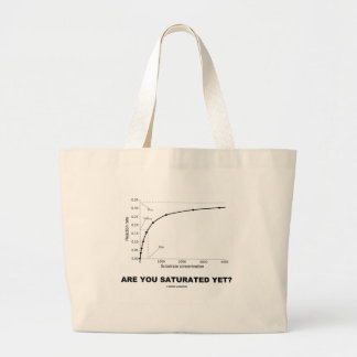 Are You Saturated Yet? (Chemistry Humor) Large Tote Bag