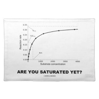 Are You Saturated Yet? (Chemistry Humor) Placemat