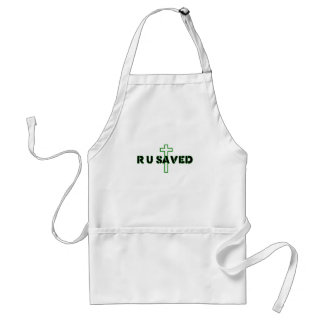 Are You Saved Adult Apron