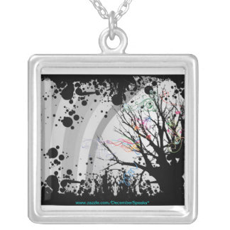 Are you scared? silver plated necklace