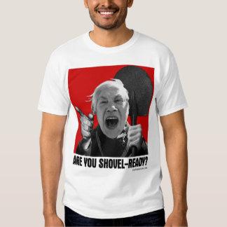 Are You Shovel-Ready? (Yelling Yelena) T-Shirt