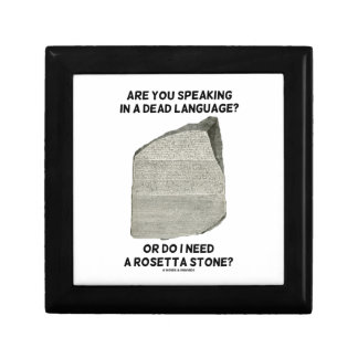 Are You Speaking In A Dead Language Or Do I Need Gift Boxes