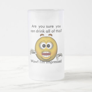 Are  you sure  you can drink all of... frosted glass beer mug