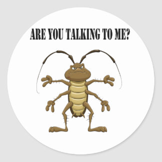 Are you talking to me classic round sticker