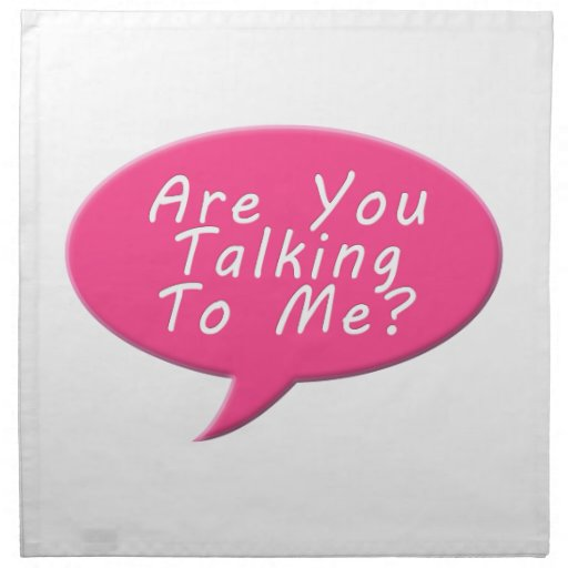 are you talking to me cloth napkin zazzle. Black Bedroom Furniture Sets. Home Design Ideas