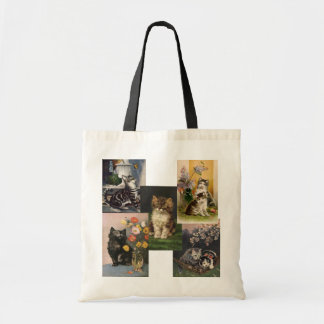 Are you the Crazy Cat Lady! Victorian Kittens Budget Tote Bag