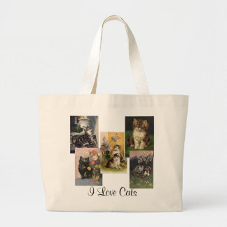 Are you the Crazy Cat Lady! Victorian Kittens Jumbo Tote Bag