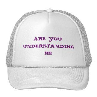 ARE YOU UNDERSTANDING ME TRUCKER HAT
