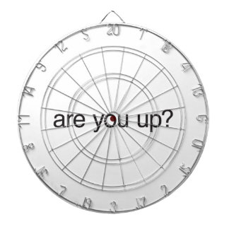 are you up? dartboards