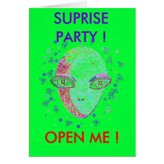 Area52Q SUPRISE PARTY ! OPEN ... - Customize Card