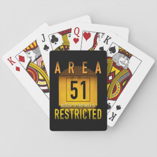 Area 51 Access Restricted Retro Grunge :: Playing Cards