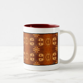 Area 51 Aerial design motif Two-Tone Coffee Mug
