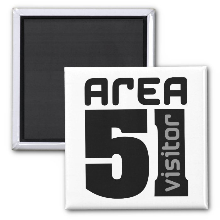 Area 51 Alien Visitor 2 Inch Square Magnet