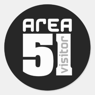 Area 51 Alien Visitor Classic Round Sticker