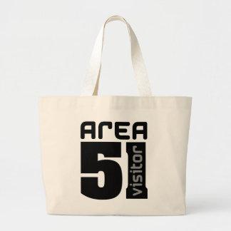 Area 51 Alien Visitor Large Tote Bag