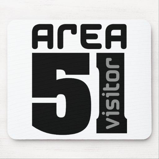 Area 51 Alien Visitor Mousepads