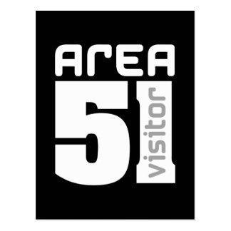 Area 51 Alien Visitor Postcard