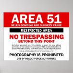 Área 51 - Área restricta Impresiones