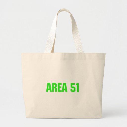 área 51 bolsa tela grande