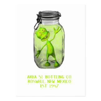 Area 51 Bottling Co. Postcard