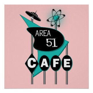 Area 51 Cafe Poster