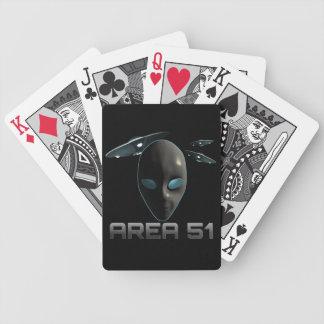 Área 51 cartas de juego