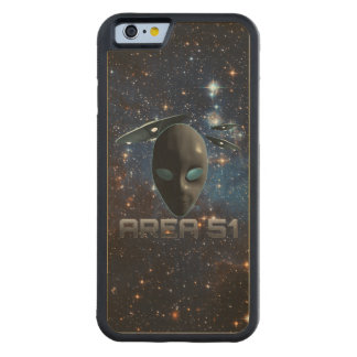 Area 51 carved maple iPhone 6 bumper case