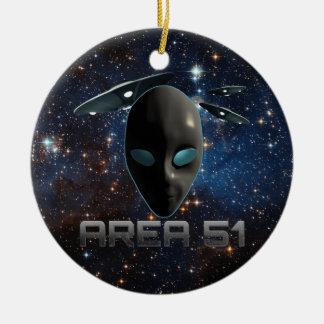 Area 51 ceramic ornament