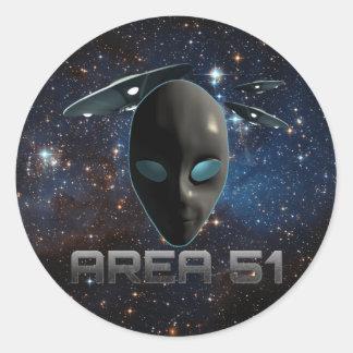 Area 51 classic round sticker