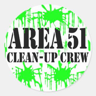Area 51 Clean-Up Crew Classic Round Sticker