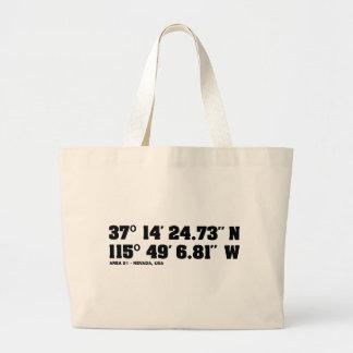 AREA 51 - coordinates Canvas Bag