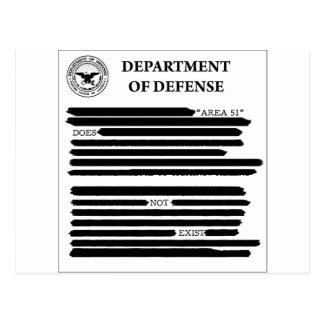 Área 51 del DoD Tarjeta Postal