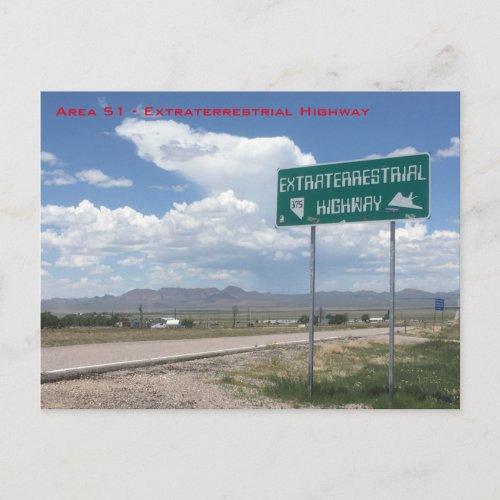 Area 51 _ Extraterrestrial Highway Postcard