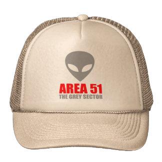AREA 51 Grey Alien Mesh Hats
