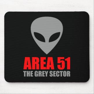 AREA 51 Grey Alien Mouse Pad