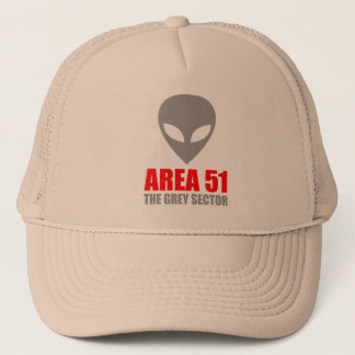 AREA 51 Grey Alien Trucker Hat