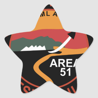 Area 51 Groom Dry Lake Hangar Patch Star Sticker