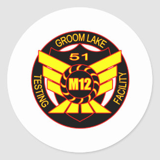 Area 51 Majestic 12 Classic Round Sticker