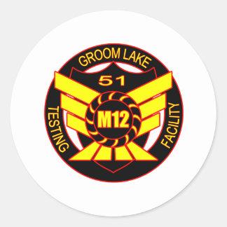 Area 51 Majestic 12 Classic Round Sticker