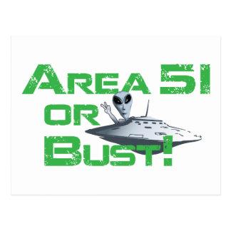¡Área 51 o busto! Tarjetas Postales