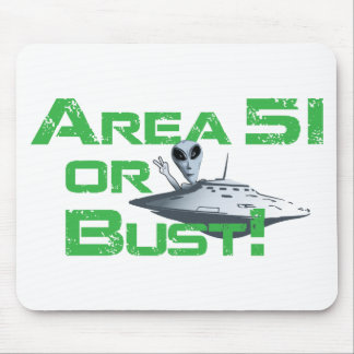 Area 51 or Bust! Mouse Pad