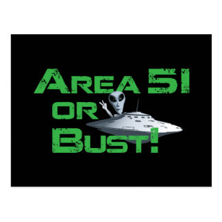 Area 51 or Bust! Postcard