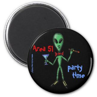 Area 51 party alien funny cartoon art magnet