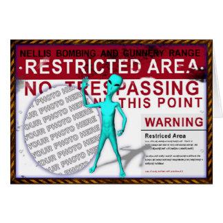 Area 51 Photo Greeting Card