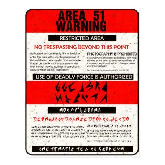 Área 51 que advierte postal