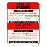Área 51 que advierte tarjeta postal